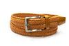 Camel Waxed Cotton Braided Belt - Rainwater's Men's Clothing and Tuxedo Rental