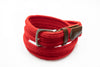 Red Cotton Webbed Belt - Rainwater's Men's Clothing and Tuxedo Rental