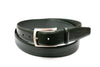 Smooth Edge Black Leather Belt - Rainwater's Men's Clothing and Tuxedo Rental