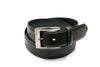 Stitched Edge Black Leather Belt - Rainwater's Men's Clothing and Tuxedo Rental