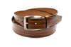 Trafalgar Cognac Strap Belt With Stitch Detail - Rainwater's Men's Clothing and Tuxedo Rental
