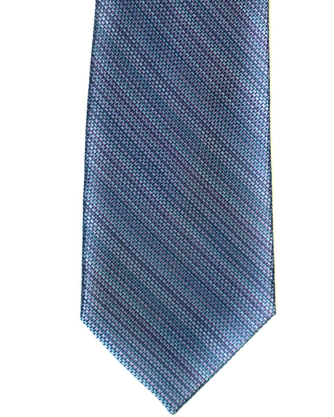 Silk Tie In Blue Heather Stripe - Rainwater's Men's Clothing and Tuxedo Rental