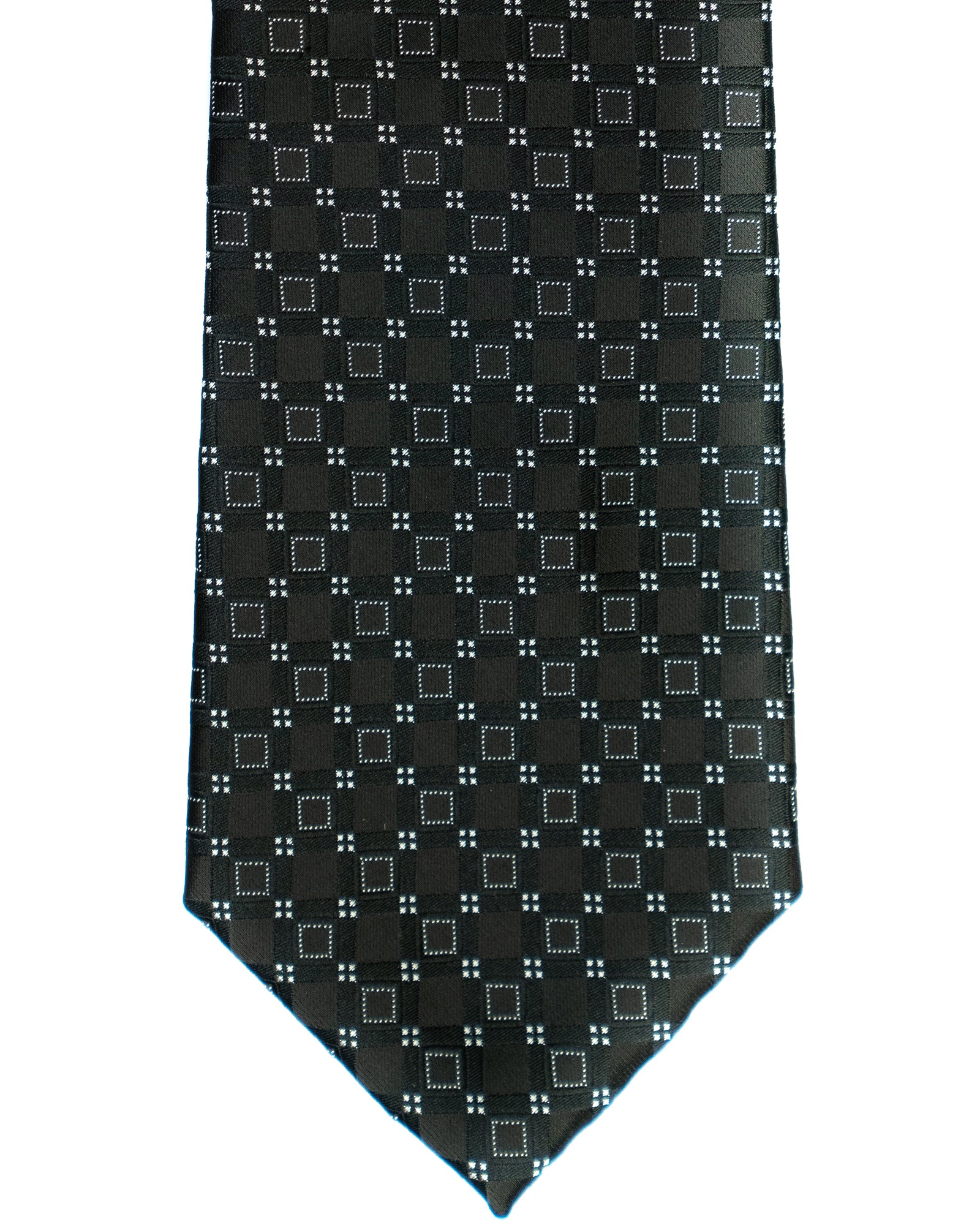 Imani Uomo Square Tie in Black with Silver - Rainwater's Men's Clothing and Tuxedo Rental