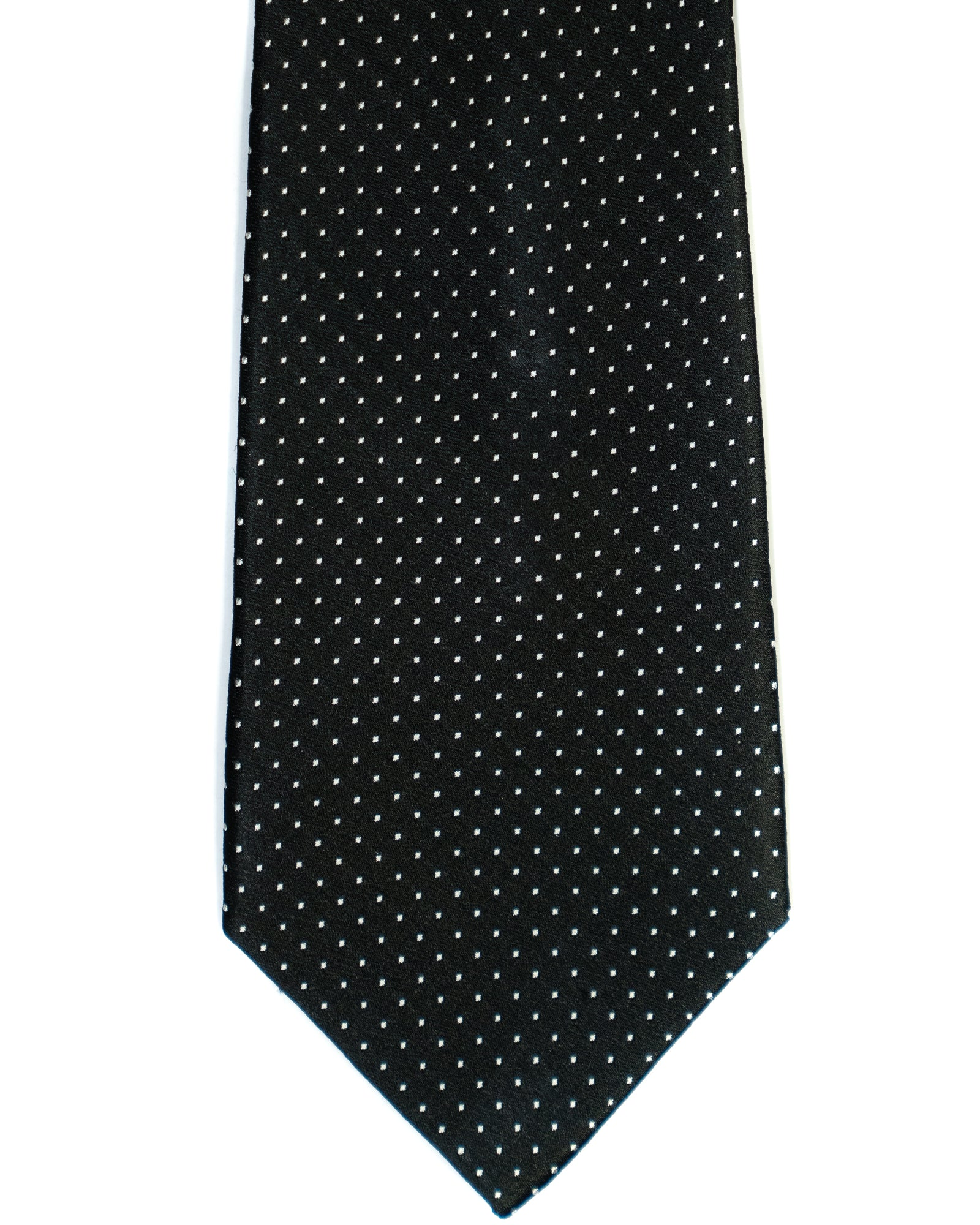 Silk Tie In Black Pin Dot Print - Rainwater's Men's Clothing and Tuxedo Rental