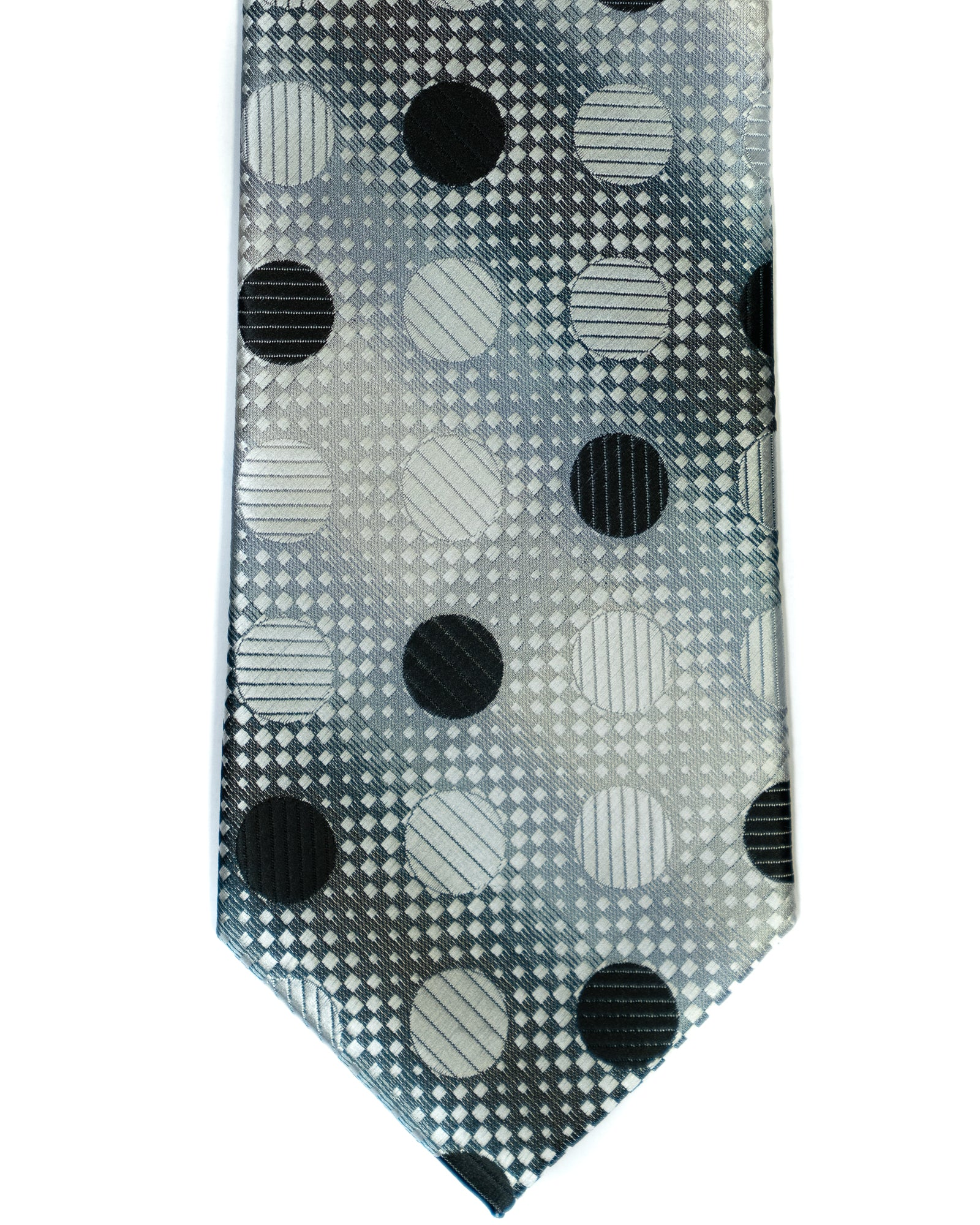 Venturi Uomo Dot Tie in Grey with Black - Rainwater's Men's Clothing and Tuxedo Rental