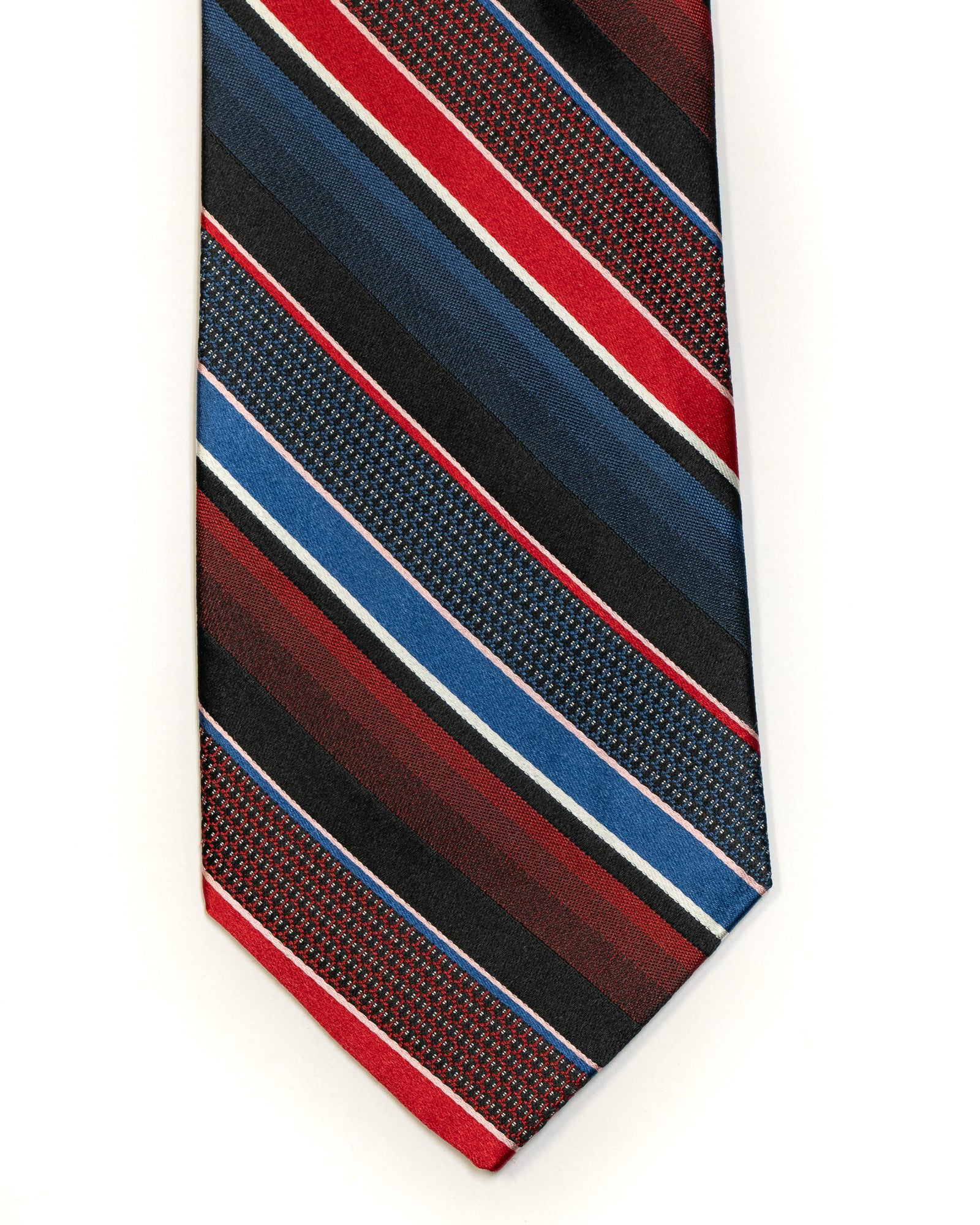 Silk Tie in Navy With Red Stripe - Rainwater's