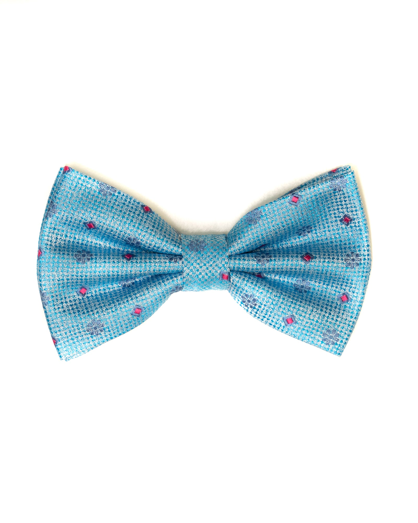 Bow Tie In Foulard Pattern Turquoise - Rainwater's Men's Clothing and Tuxedo Rental