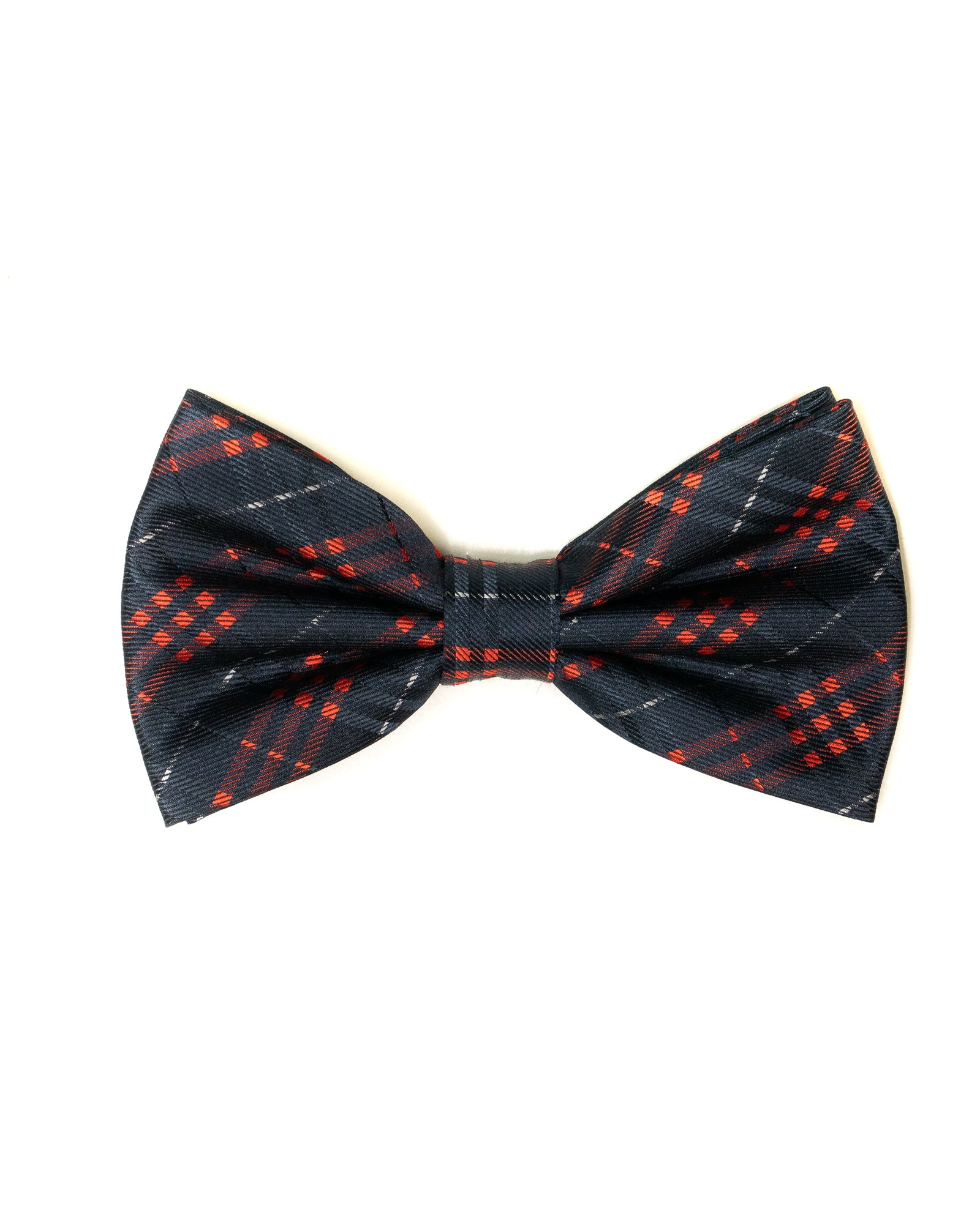 Bow Tie In Plaid Pattern Navy & Red - Rainwater's Men's Clothing and Tuxedo Rental