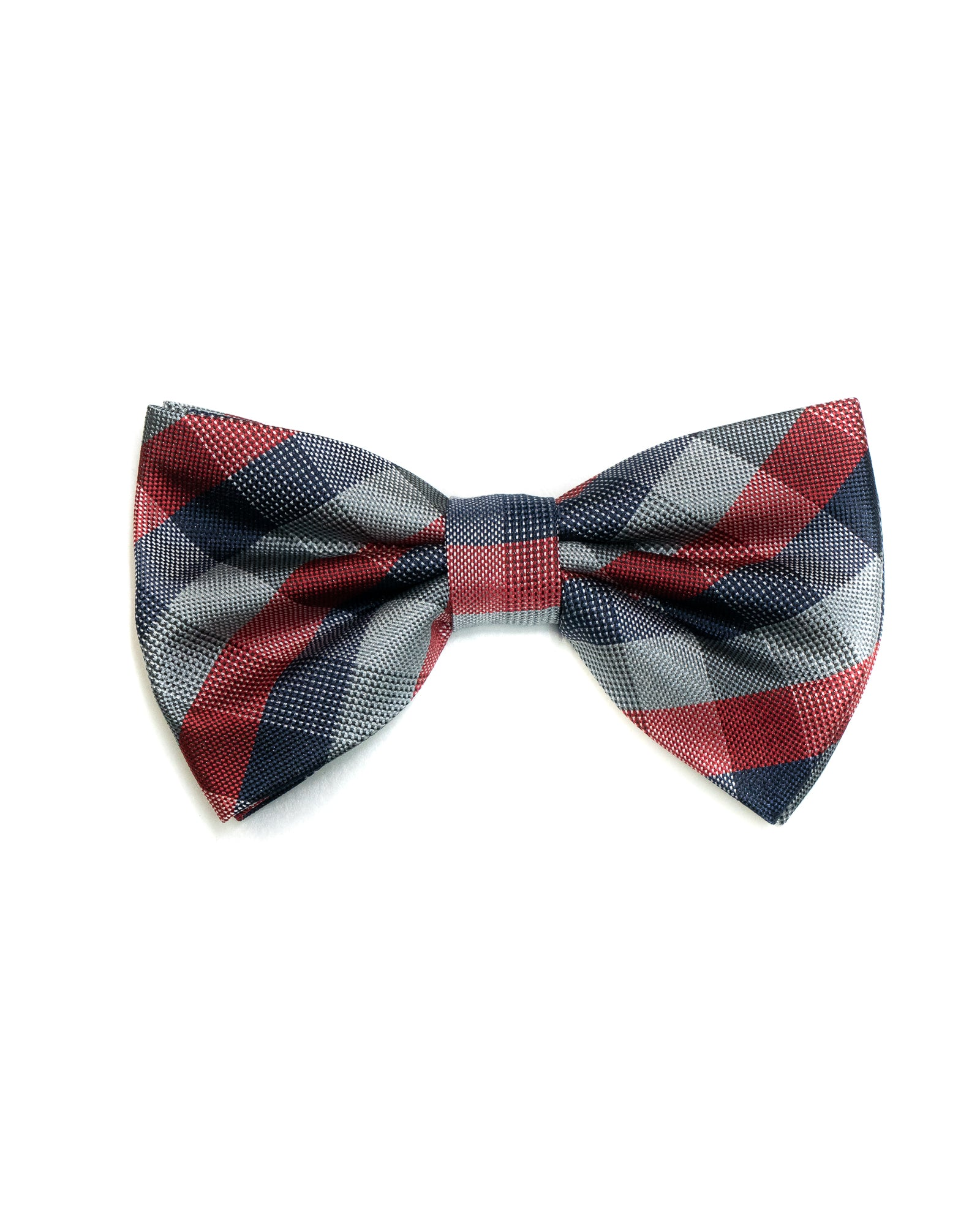 Bow Tie In Plaid Pattern Red & Navy - Rainwater's Men's Clothing and Tuxedo Rental