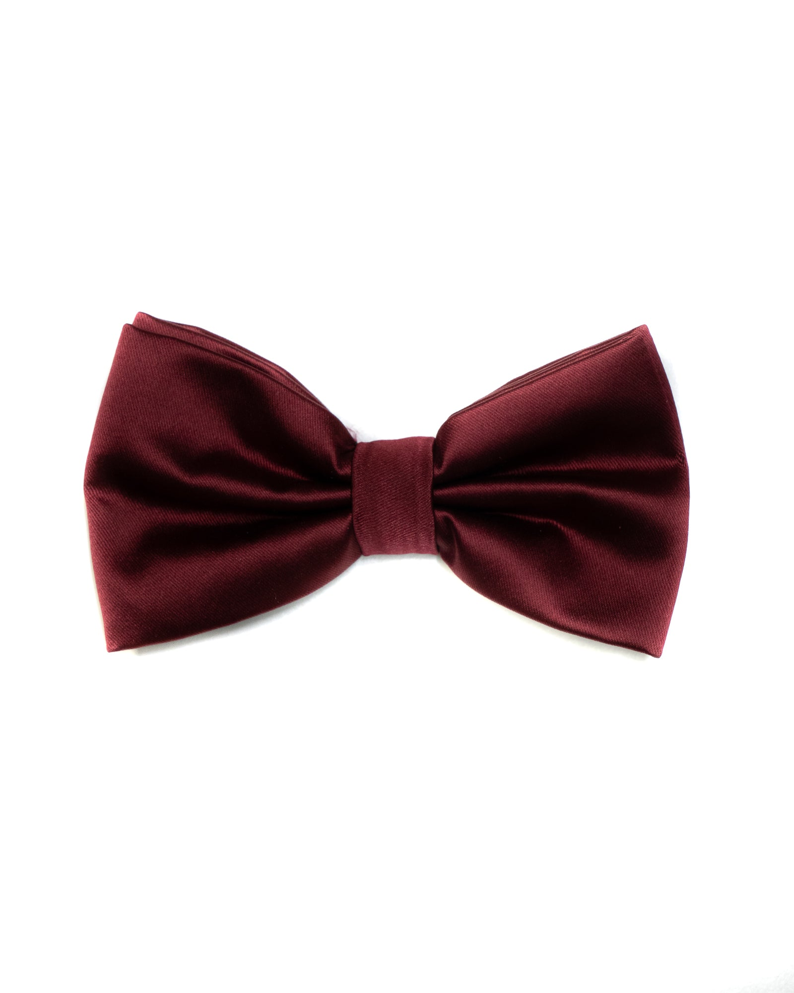 Solid Bow Tie and Matching Pocket Square Set - Rainwater's Men's Clothing and Tuxedo Rental