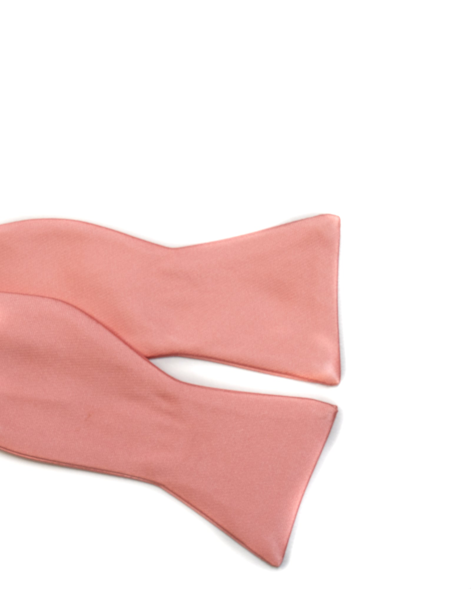 Self Tie Bow Tie In Solid Peach - Rainwater's Men's Clothing and Tuxedo Rental