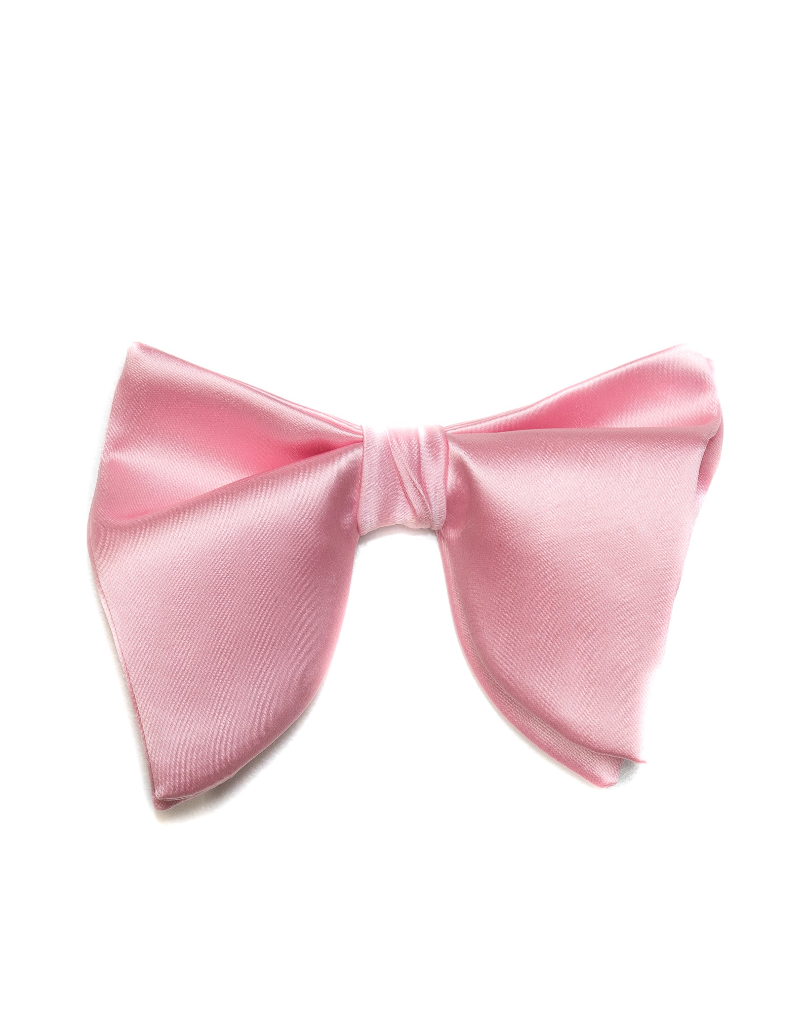 Bow Tie In Butterfly Shape Solid Satin Light Pink - Rainwater's
