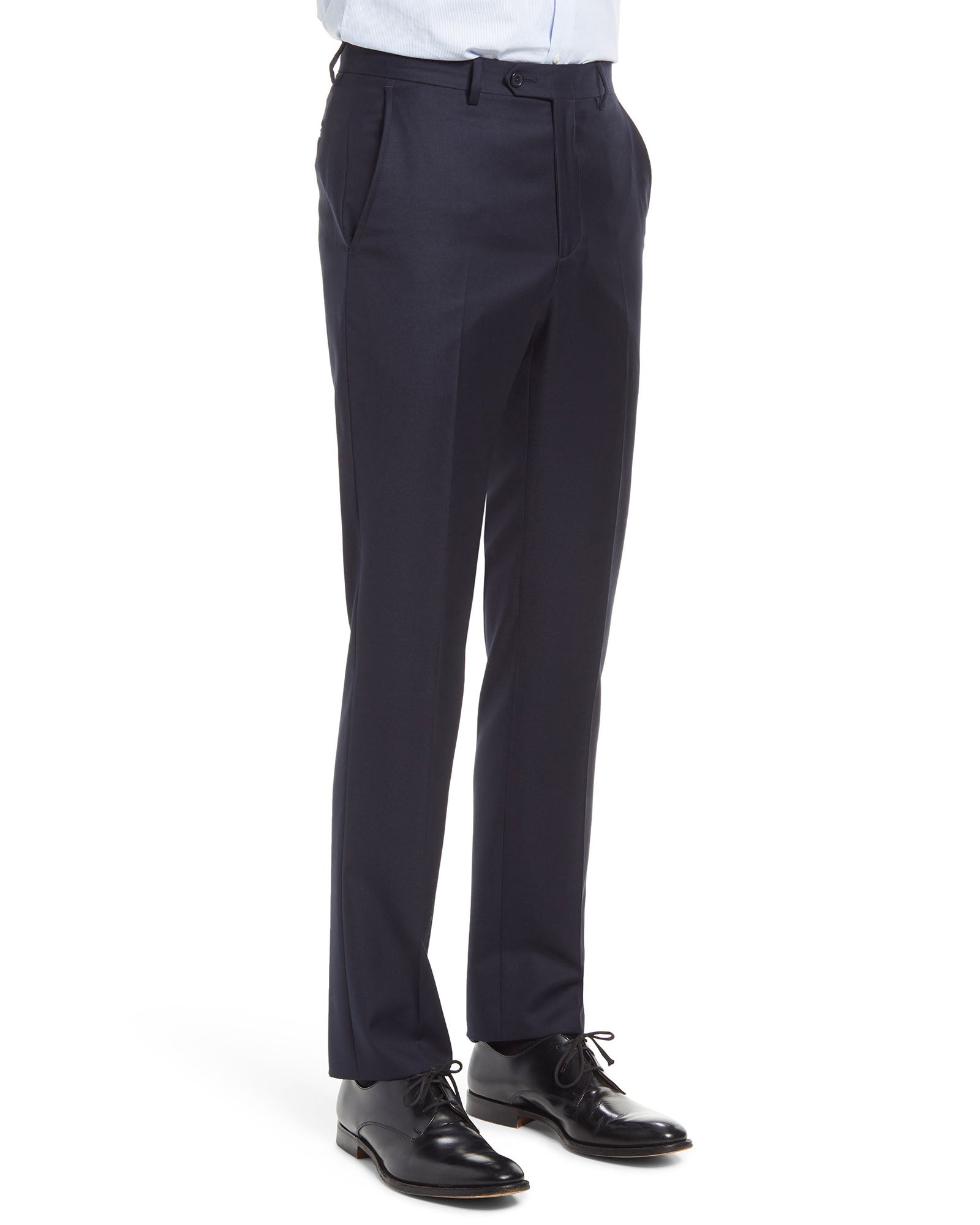 Dean Rainwater Made In Italy fabic by Tollegno Super 150's Wool Dress Slacks in Navy Blue - Rainwater's
