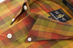Fall Colors Plaid Check Button Down Wrinkle Free Sport Shirt by Rainwater's - Rainwater's Men's Clothing and Tuxedo Rental
