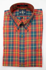 Rainwater's Ginger Multi Plaid Button Down Sport Shirt - Rainwater's Men's Clothing and Tuxedo Rental