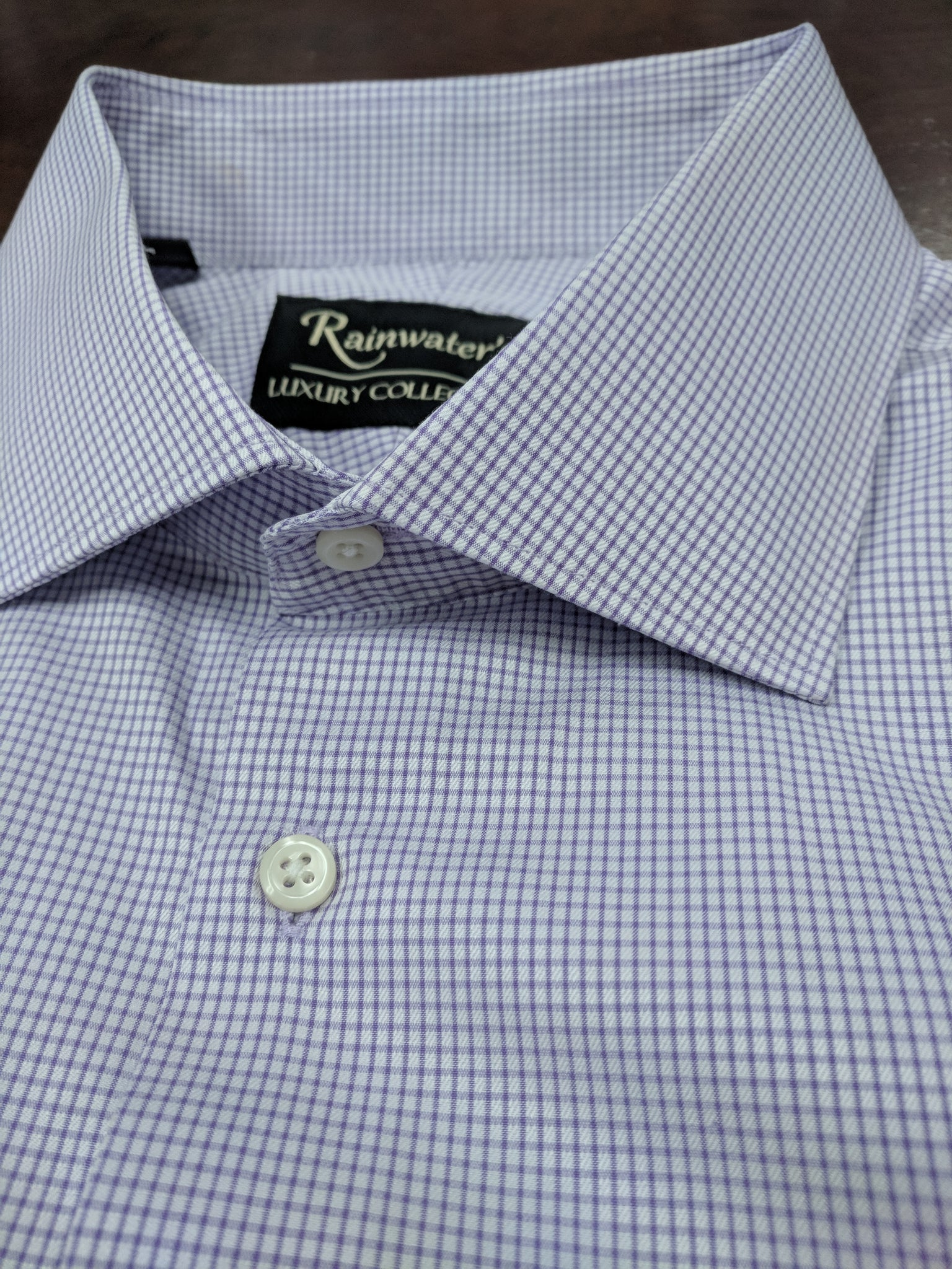 Rainwater's Lavender Mini Check Dress Shirt - Rainwater's Men's Clothing and Tuxedo Rental
