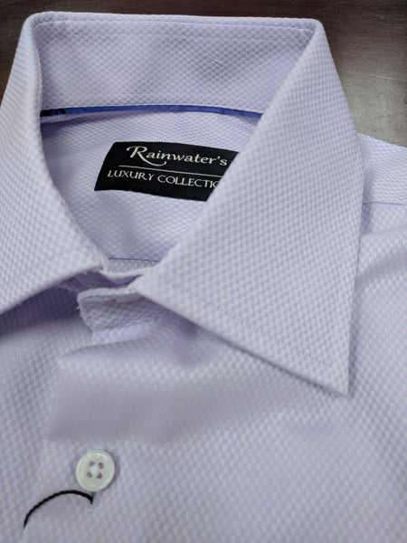 Rainwater's Lavender Royal Oxford 100% Cotton, Classic Fit, Button Cuff, Spread Collar - Dress shirt - Rainwater's Men's Clothing and Tuxedo Rental