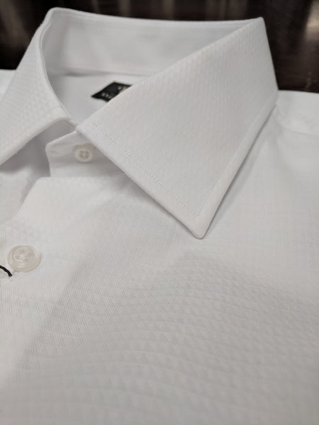 Rainwater's Tone on Tone White Dress Shirt - Rainwater's Men's Clothing and Tuxedo Rental