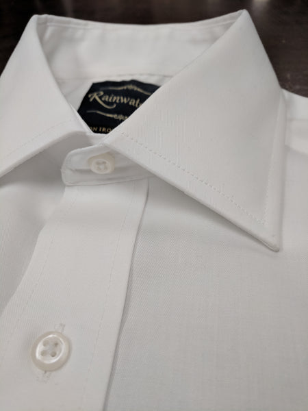 Rainwater's White 100% Cotton Wrinkle Free, Classic Fit, Button Cuffs - Dress Shirt - Rainwater's Men's Clothing and Tuxedo Rental
