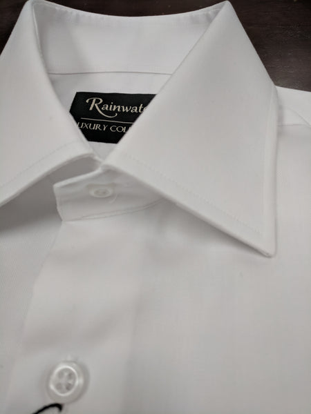 Rainwater's White 100% Cotton Wrinkle Free, Classic Fit, French Cuffs - Dress Shirt - Rainwater's Men's Clothing and Tuxedo Rental