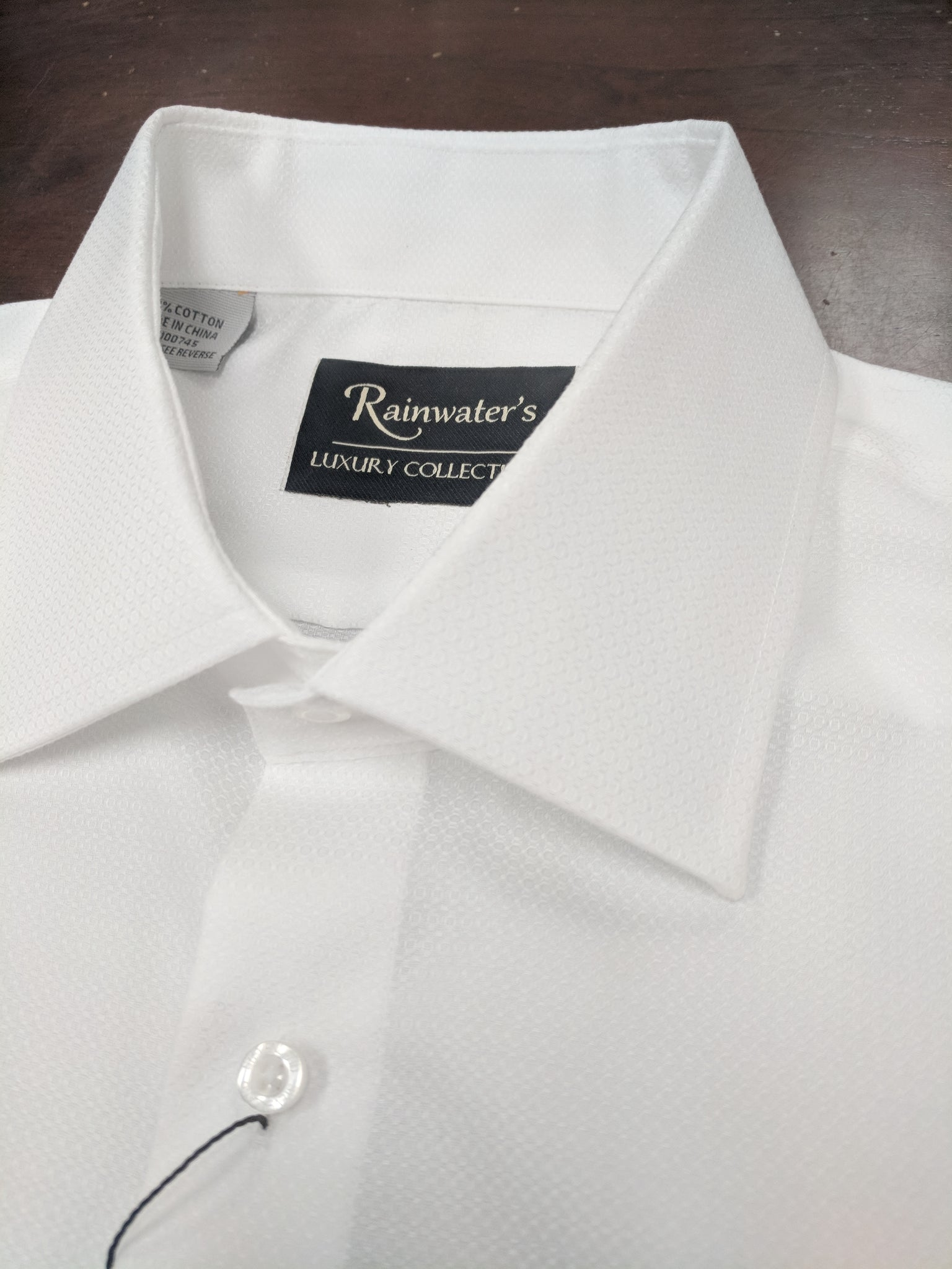 Rainwater's White Tonal Small Neat Dress Shirt - Rainwater's Men's Clothing and Tuxedo Rental