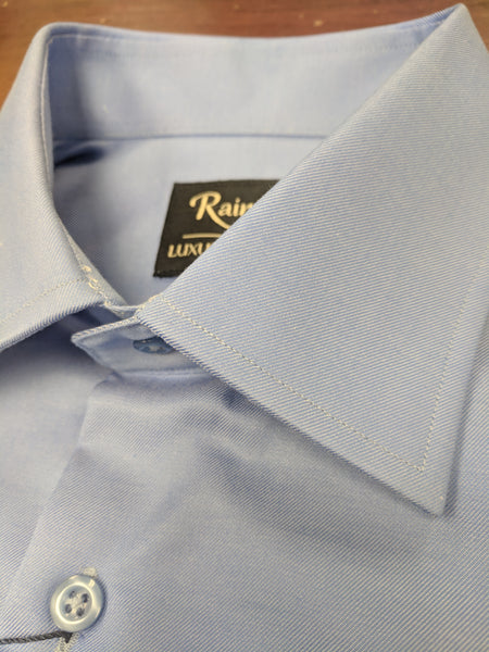 Rainwater's French Blue 100% Cotton, Wrinkle Free, Classic Fit, French Cuff - Dress Shirt - Rainwater's Men's Clothing and Tuxedo Rental