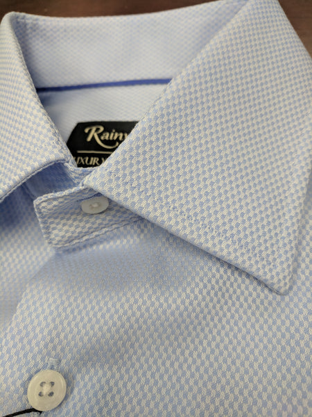 Rainwater's Light Blue Royal Oxford 100% Cotton, Classic Fit, Button Cuff, Spread Collar - Dress shirt - Rainwater's Men's Clothing and Tuxedo Rental