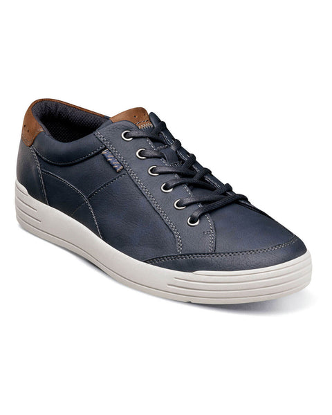 Kore City Walk Lace To Toe Oxford in Navy by Nunn Bush - Rainwater's Men's Clothing and Tuxedo Rental