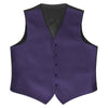 Lapis Purple Satin Rental Vest - Rainwater's Men's Clothing and Tuxedo Rental