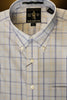 Wrinkle Free Light Blue & Khaki Plaid Button Down Sport Shirt by Rainwater's - Rainwater's Men's Clothing and Tuxedo Rental