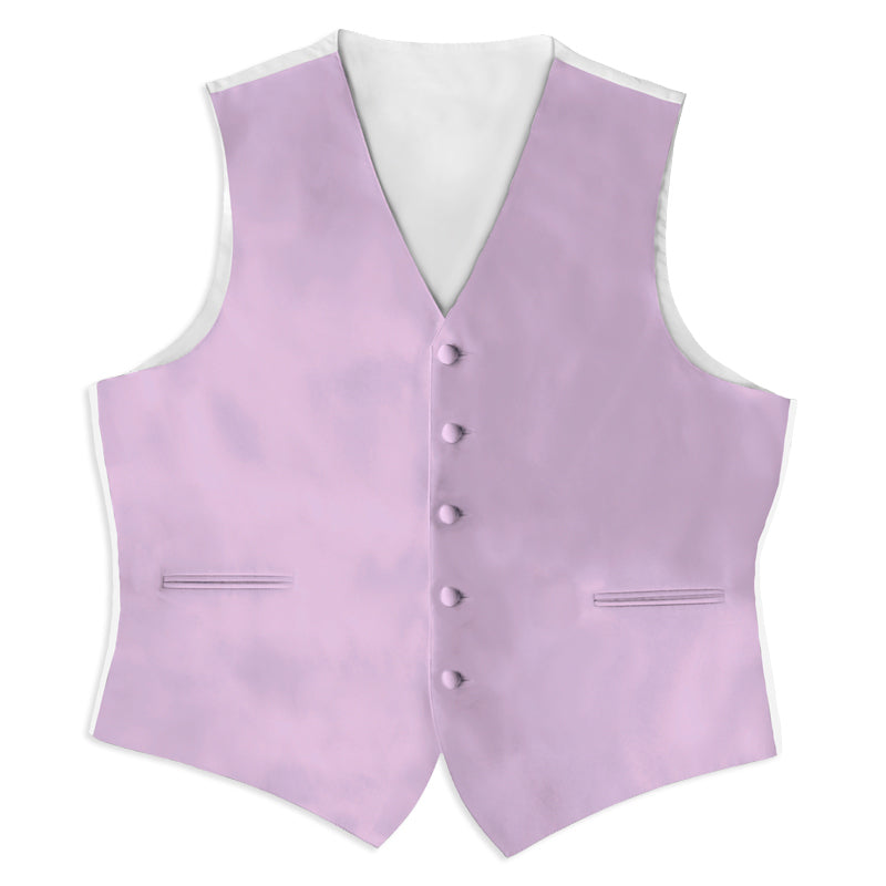 Lilac Satin Rental Vest - Rainwater's Men's Clothing and Tuxedo Rental
