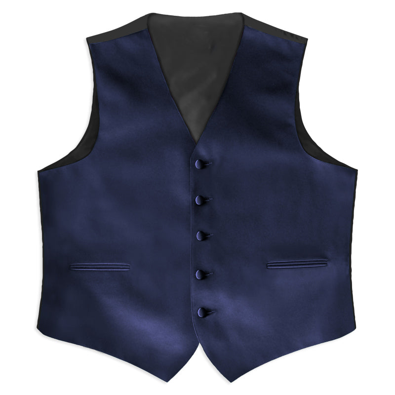 Navy Satin Rental Vest - Rainwater's Men's Clothing and Tuxedo Rental