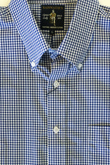 Navy & White Gingham Button Down Sport Shirt by Rainwater's - Rainwater's Men's Clothing and Tuxedo Rental