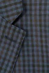 Rainwater's Blue With Black Check Super 140's Wool Sport Coat - Rainwater's Men's Clothing and Tuxedo Rental