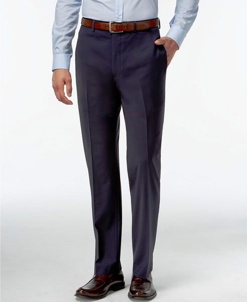 Rainwater's Slim New Navy Super 140's Worsted Wool Dress Slack - Rainwater's Men's Clothing and Tuxedo Rental