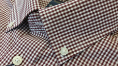 Rainwater's Performance Burgundy Gingham Button Down Collar Long Sleeve - Rainwater's