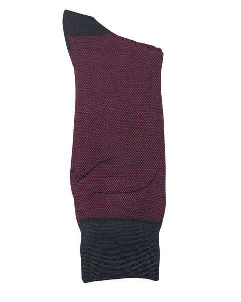 Rainwater's Mercerized Cotton Micro Dot Stripe Dress Sock - Rainwater's