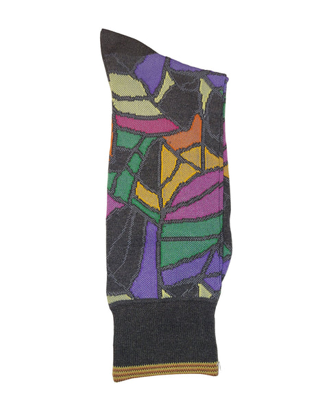 Rainwater's Mercerized Cotton Stained Glass Dress Sock - Rainwater's