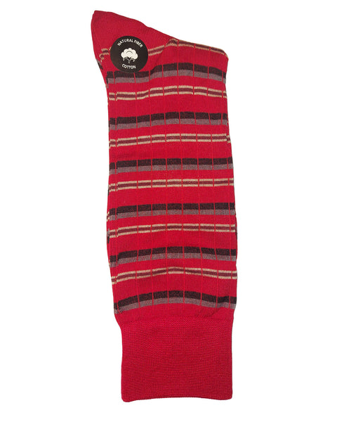 Rainwater's Mercerized Cotton Triple Stripe Dress Sock - Rainwater's