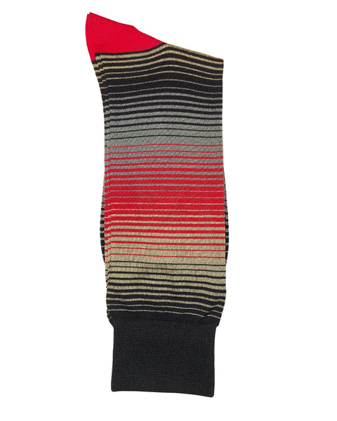 Rainwater's Mercerized Cotton Striped Dress Sock - Rainwater's