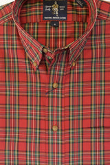 Red Royal Stewart Tartan Plaid Wrinkle Free Button Down by Rainwater's - Rainwater's Men's Clothing and Tuxedo Rental
