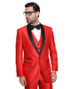 Red With Black Shawl Tuxedo Rental