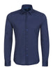 Stone Rose Navy Geometric Knit Long Sleeve Shirt - Rainwater's Men's Clothing and Tuxedo Rental