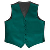 Teal Satin Rental Vest - Rainwater's Men's Clothing and Tuxedo Rental