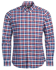 Barbour Country Check 15 Tailored Fit Oxford Cloth Button Down Shirt In Bold Red - Rainwater's