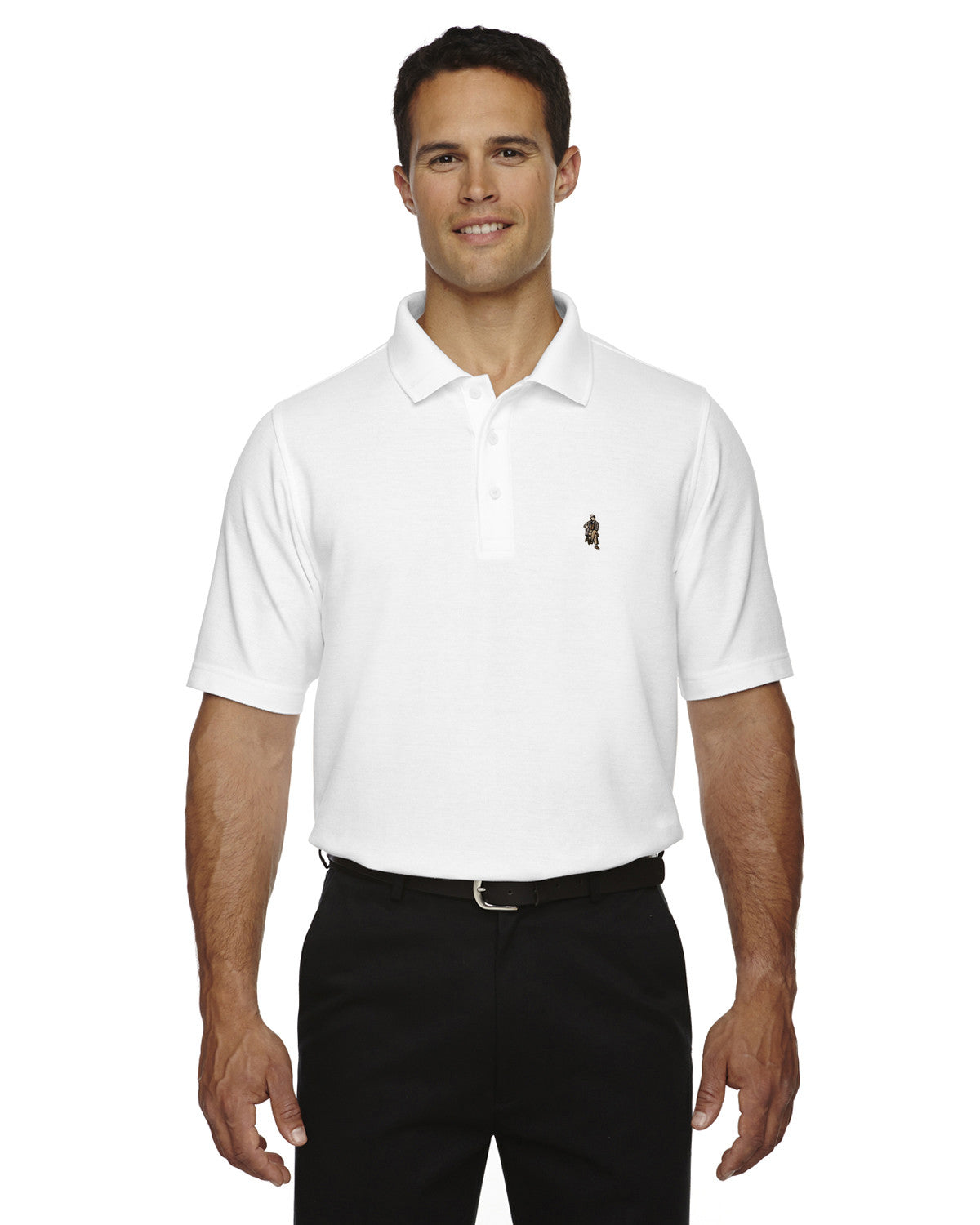 Rainwater's Logo Performance Solid Polo - Rainwater's Men's Clothing and Tuxedo Rental