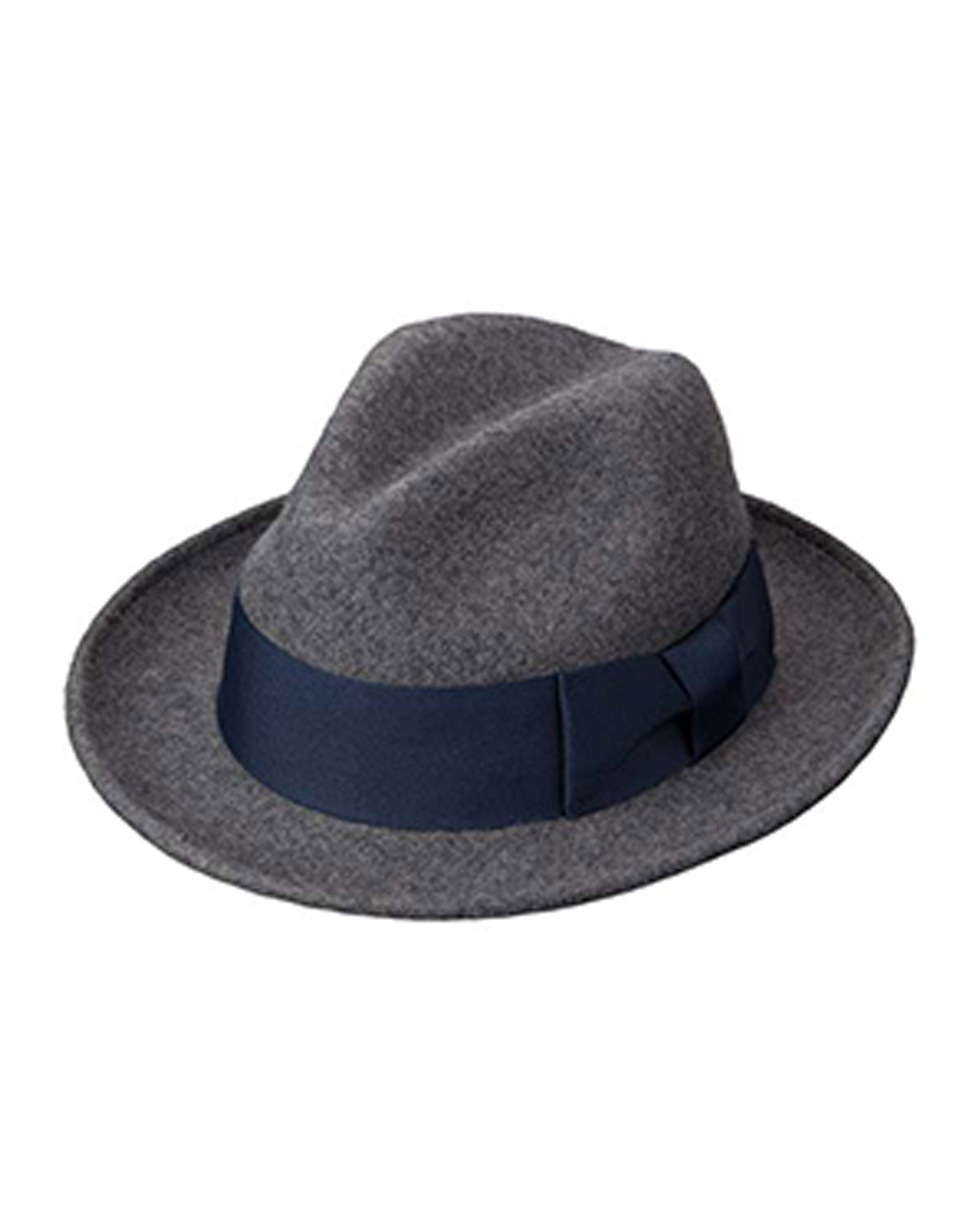 Broner Jimmie Grey Heather Wool Felt Fedora with 2.75 inch Brim - Rainwater's