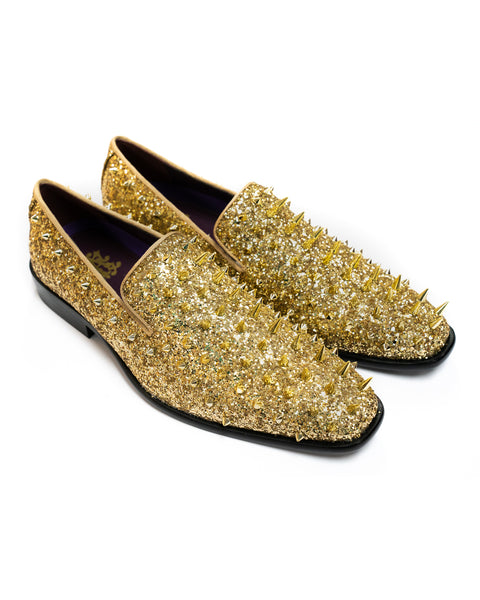 After Midnight Glitter Spike Formal Loafer in Gold-Multi - Rainwater's Men's Clothing and Tuxedo Rental