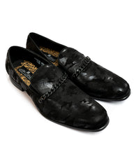 After Midnight Tonal Camo with Cuban Chain Formal Loafer in Black - Rainwater's Men's Clothing and Tuxedo Rental