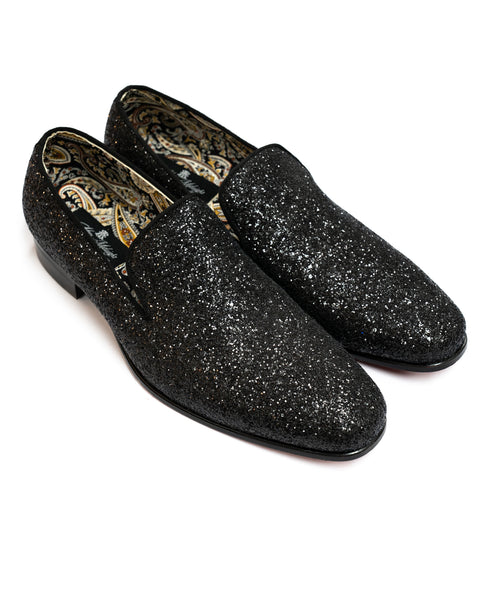 After Midnight Glitter Formal Loafer in Black - Rainwater's